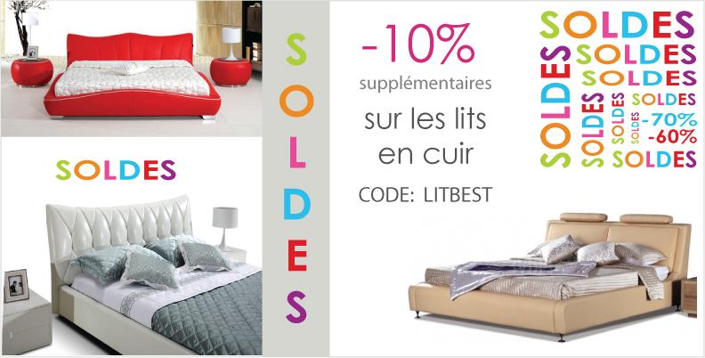 lits en soldes. Black Bedroom Furniture Sets. Home Design Ideas