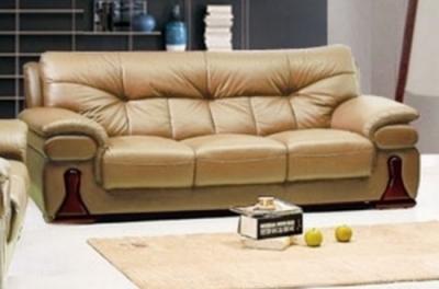 canapé 3 pièces oxford en cuir luxe italien vachette, beige