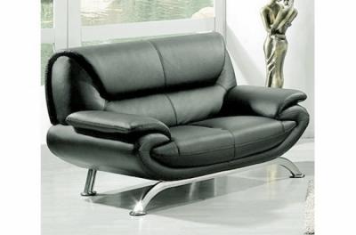 canapé 2 places en cuir italien jonah, gris foncé
