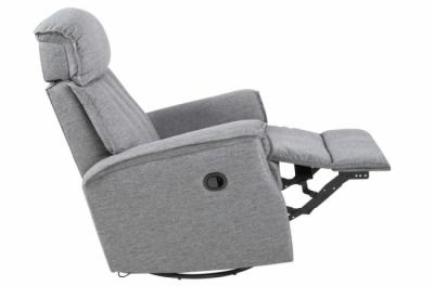 fauteuil 1 place relaxation en tissu joyce, gris