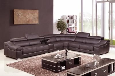 canapé d'angle en cuir buffle italien de luxe 7 places londres, chocolat, angle droit