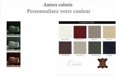 fauteuil 1 place en cuir italien buffle luxy, couleur personnalisée