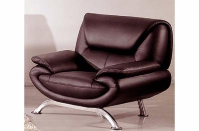 fauteuil 1 place en cuir italien jonah, chocolat