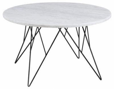 table basse pretty, plateau en marbre blanc