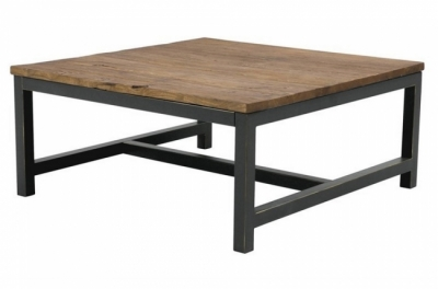 table basse vintage, vieil orme ciré