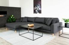 - canapé d'angle en tissu matelassé de qualité lima coloris gris foncé, angle gauche