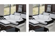 2eme paiement de ma commande: ensemble de 2 canapé 2 places en cuir italien vachette candide blanc et noir, 6x sans frai, total de la commande: 1618 euros