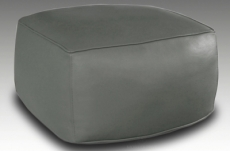 grand pouf en simili cuir magnum chocolat mobilier priv. Black Bedroom Furniture Sets. Home Design Ideas