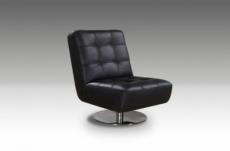 fauteuil de bureau design leni, noir