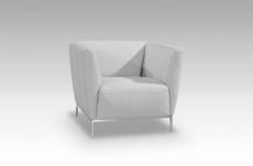 fauteuil de bureau design berto, blanc