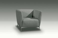 fauteuil de bureau design berto, gris clair