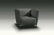 fauteuil de bureau design berto, gris foncé