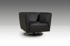fauteuil de bureau design riba, noir