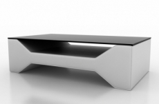 table basse design cosy, blanche