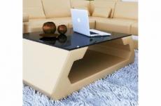 table basse design alma, beige.