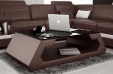 table basse design alma, chocolat.