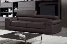 canapé 3 places en cuir italien alonso, noir