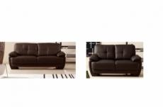 2eme paiement de la commande: ensemble canapé 3 places + canapé 2 places, cuir italien buffle leandro, chocolat, 6x sans frais, total de la commande 1387 euros