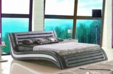 lit en cuir italien de luxe noctura, gris foncé