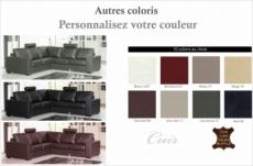 canapé d'angle cuir buffle italien 5 places , albi, couleur personnalisée