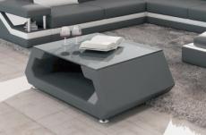 table basse design alma, gris foncé.