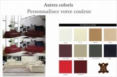 ensemble composé d'un canapé 3 places et d'un canapé 2 places en cuir luxe italien, alonso, couleur personnalisée