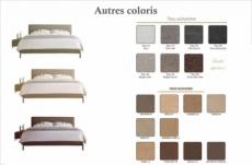 lit design en tissu de luxe alvesa, choisissez la couleur du tissu, 140x190