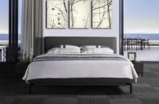 lit design en tissu de luxe alvesa, couleur chocolat n°06, 160x200
