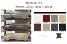 .canapé d'angle convertible en cuir de buffle italien de luxe 5 places anthony, couleur personnalisée, angle gauche