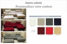 canapé d'angle de luxe, 5 places argo, couleur personnalisée, angle droit