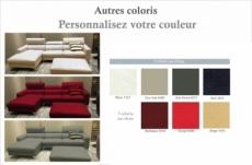 canapé d'angle de luxe, 5 places argo, couleur personnalisée, angle gauche