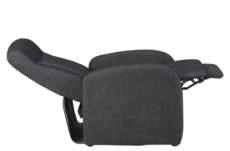 fauteuil 1 place relaxation en tissu ariana, gris foncé
