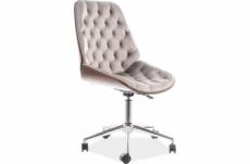 fauteuil pivotant, tissu velours, couleur: gris