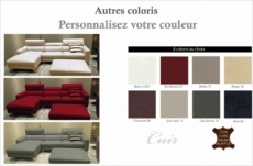 canapé d'angle en cuir buffle italien de luxe 5 places armano, couelur personnalisée, angle gauche