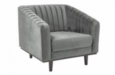 fauteuil asini 1 place en tissu de qualité, couleur gris