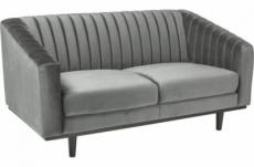 canapé asini 2 places en tissu de qualité, couleur gris