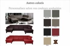 canapé d'angle en cuir italien de luxe 7/8 places astonia, couleur personnalisée, angle droit
