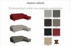 canapé d'angle convertible en cuir italien de luxe 5 places astoria, couleur personnalisée, angle droit