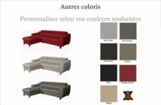 - canapé d'angle convertible en cuir italien de luxe 5 places astoria, couleur personnalisée, angle gauche