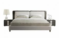 lit design en cuir et tissu de luxe astra, choisissez la couleur et le tissu, 140x200
