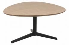 table basse barta, plateau laqué en chêne plaqué
