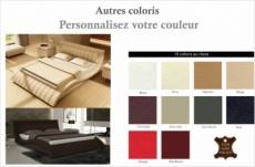 lit design en cuir italien de luxe belia, couleur personnalisée, 140x190