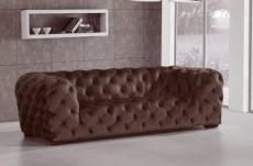 canapé 4 places belina en tissu haut de gamme, coloris chocolat