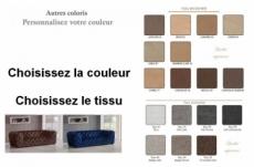 canapé 4 places belina en tissu haut de gamme, couleur personnalisée