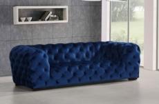 canapé 4 places belina en tissu haut de gamme, coloris bleu