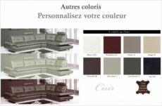 canapé d'angle en cuir buffle italien de luxe 6/7 places bellaligna, couleur personnalisée, angle droit