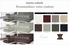 - canapé d'angle en cuir buffle italien de luxe 6/7 places bellaligna, couleur personnalisée, angle gauche