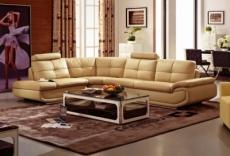 canapé d'angle, qualité luxe 6/7 places bellastar, beige, angle gauche