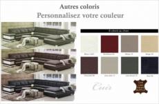 - canapé d'angle cuir buffle italien 7/8 places, bellissimo, couleur personnalisée, angle gauche