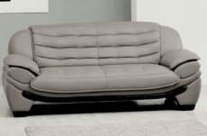 Canapé 2 places en cuir italien benson gris foncé Mobilier Privé